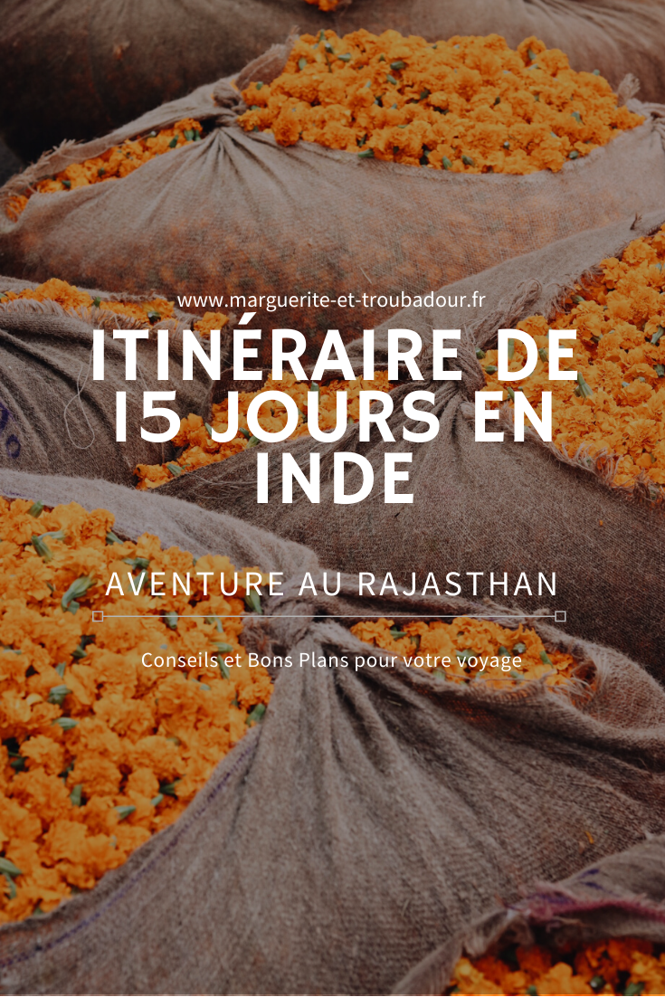 Voyage en Inde Rajasthan Itinéraire